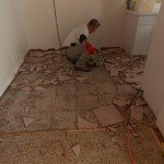 Removing Tile from Terrazzo for Safe Dry Diamond Polish Restoration
